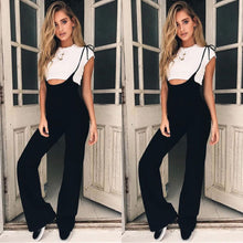 Load image into Gallery viewer, New Fashionable Women Ladies Summer Playsuit Bodycon Party Jumpsuit Lace-up Romper Trousers Black