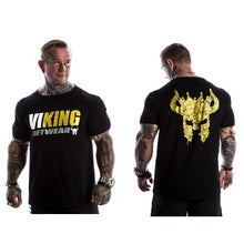 Load image into Gallery viewer, VIKING 2019 New Brand clothing Gyms Tight t-shirt mens fitness t-shirt homme Gyms t shirt men fitness Summer tops