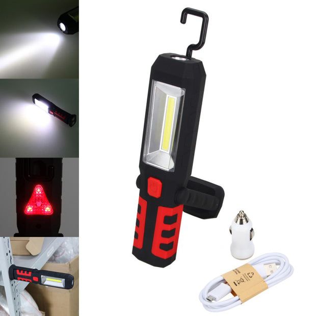 COB LED Magnetic Work Light Car Garage Mechanic Home Rechargeable Torch Lamp