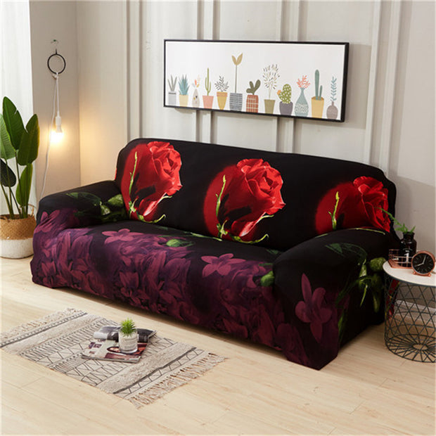 Grote Rose Elastische Sofa Cover Stretch Sectionele Bank Cover Sofa Kussenovertrekken Sofa Covers Voor woonkamer housse canape 1/ 2/3/4 seat