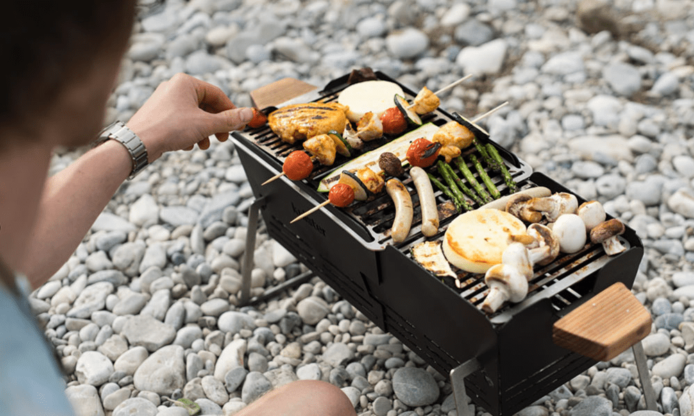 KNISTER barbecue portable rétractable