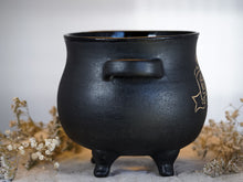 Load image into Gallery viewer, Love Brews Here Cauldron Planter 51