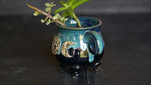 Moon Goddess cauldron planter
