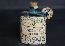Load image into Gallery viewer, Hand-built Ceramic witch flask