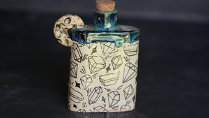 Hand-built Ceramic witch flask