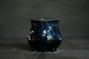 Moon Goddess cauldron Mug in Blue 2