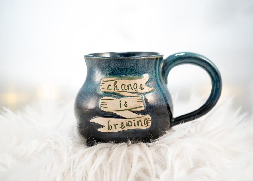 Change is brewing cauldron mug
