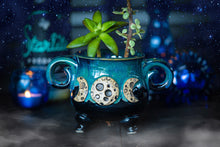 Load image into Gallery viewer, Moon Goddess cauldron planter