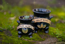 Load image into Gallery viewer, Plant Witch Mini Cauldron planter #2