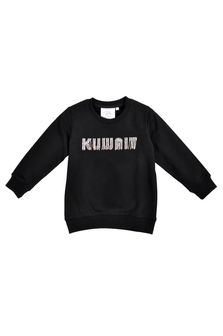 Little Girls Black Sweater