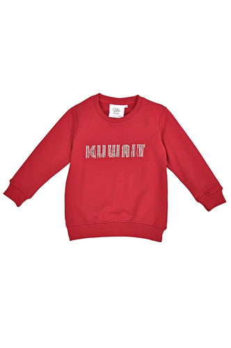 Little Girls Dark Red Sweater