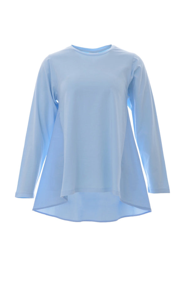 Blue long sleeves t-shirt