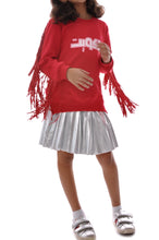 Load image into Gallery viewer, Little Girls Red Fringes