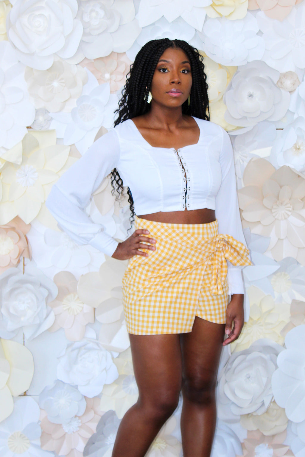 Vintage Picnic Wrap Mini Skirt