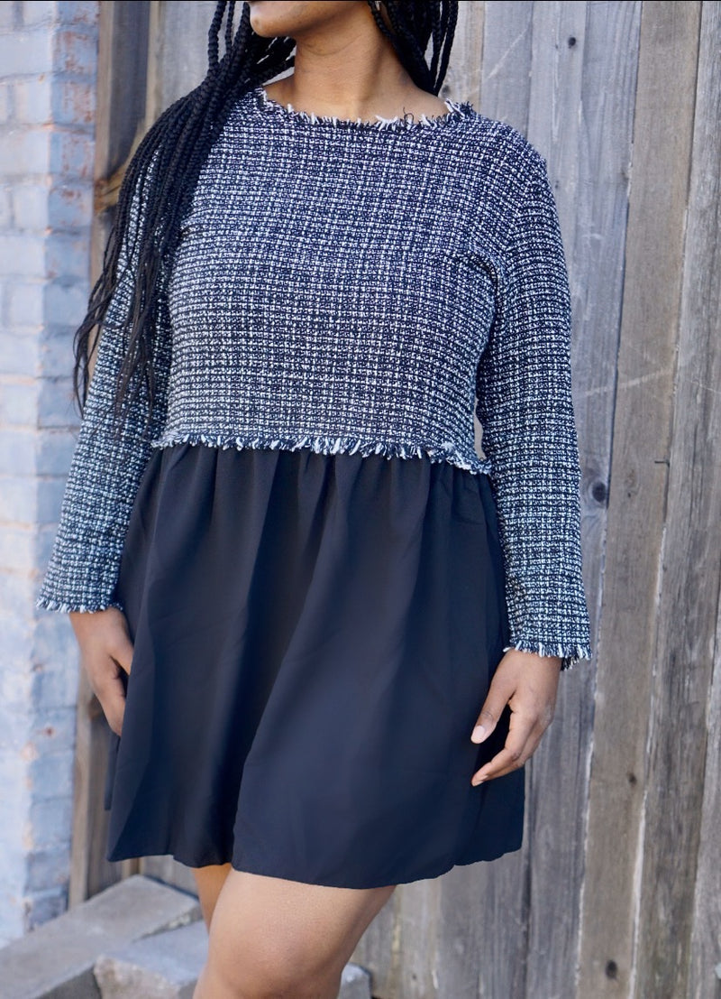Sweater Pleated Dress