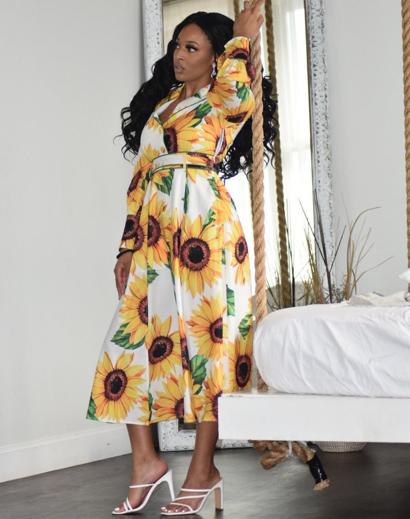 Sunflower Luxe Midi Dress