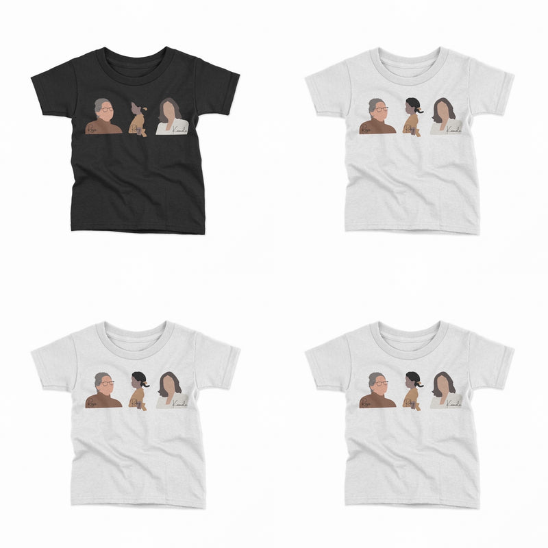 PREORDER KIDS HERSTORY OR KAMALA, RUBY, ROSA SHORT SLEEVE TEE