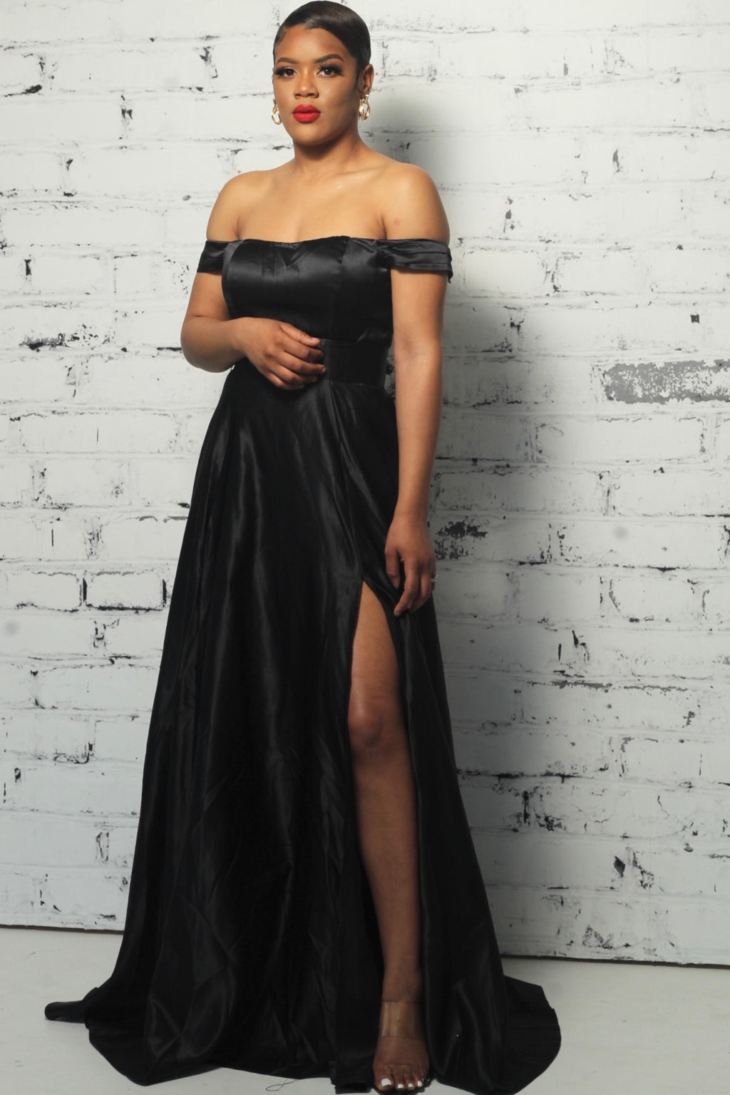 Black Buckle Luxe Evening Gown