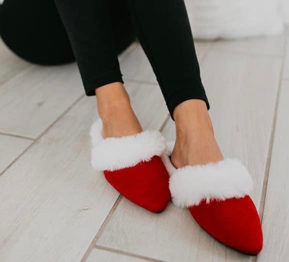 Mrs. Claus Slippers
