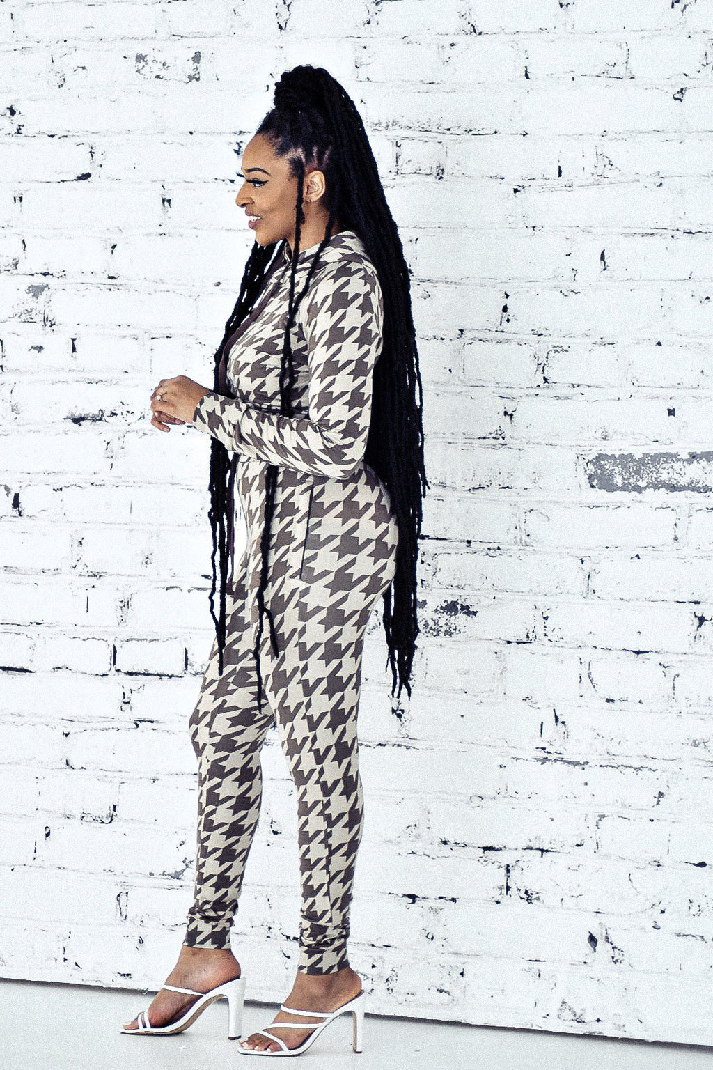 Houndstooth Jogger Set