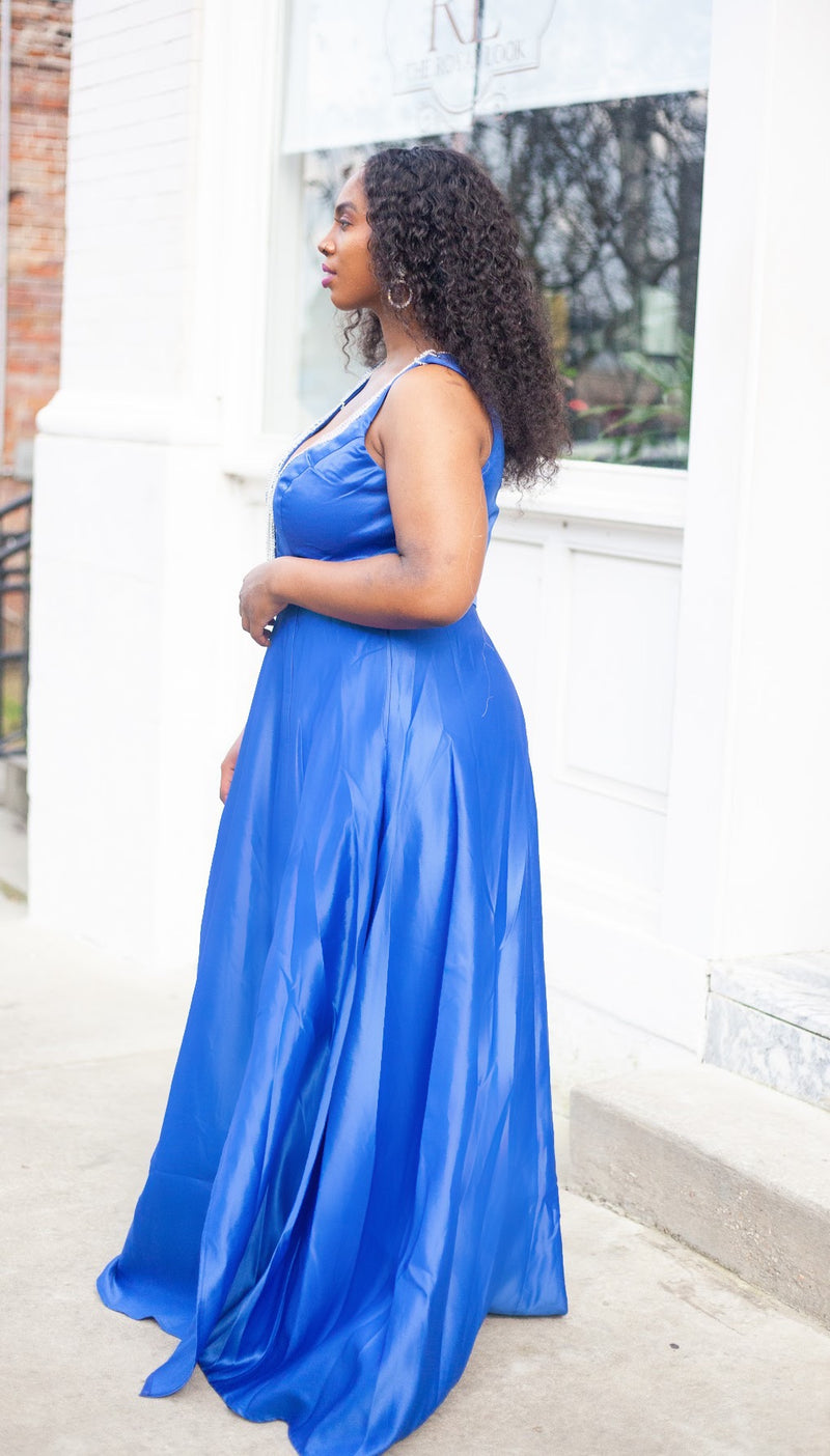 Fringe Royal Blue Dress
