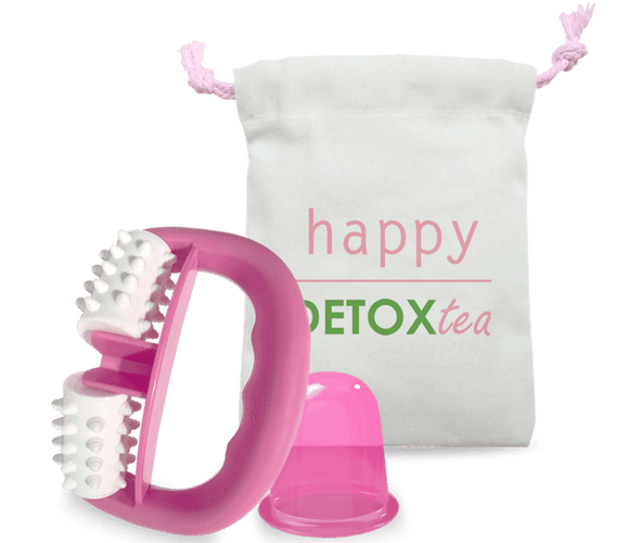 Anti-cellulite cup and Massage Roller Kit - happydetoxtea-us.com