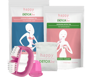 Teatox with massage roller and cup - happydetoxtea-us.com