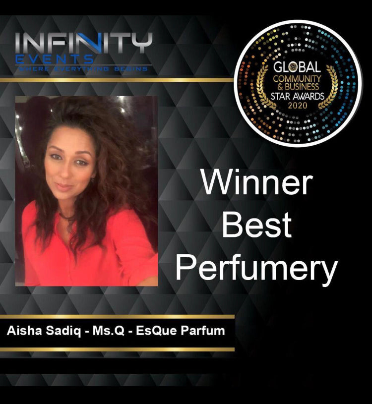 Awarded the 'Best Perfumery' in 2020 by the Global Community and Business star Awards