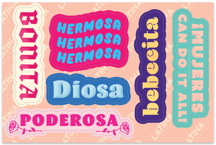 LATINAS PODEROSAS STICKER SHEET #2