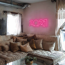 "Load image into Gallery viewer, 2021 The Neon Studio Large: W 85cm * H 27cm / 33"" 11"" Hot Pink Clear Acrylic - Shape of Design"