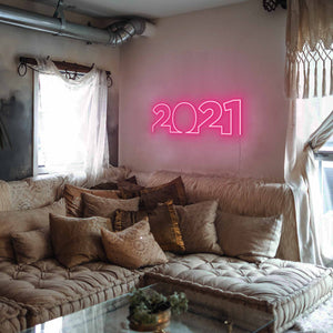 "2021 The Neon Studio Large: W 85cm * H 27cm / 33"" 11"" Hot Pink Clear Acrylic - Shape of Design"