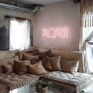 "2021 The Neon Studio Large: W 85cm * H 27cm / 33"" 11"" Peach Pink Clear Acrylic - Shape of Design"