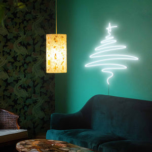 "Cedar Christmas Tree The Neon Studio Large: W 112cm * H 115cm / 44"" 45"" Cool White Clear Acrylic - Shape of Design"