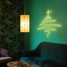 "Load image into Gallery viewer, Cedar Christmas Tree The Neon Studio Large: W 112cm * H 115cm / 44"" 45"" Green Clear Acrylic - Shape of Design"