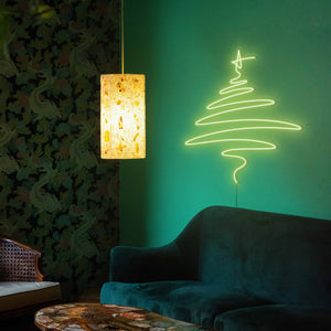 "Cedar Christmas Tree The Neon Studio Large: W 112cm * H 115cm / 44"" 45"" Green Clear Acrylic - Shape of Design"