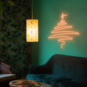 "Cedar Christmas Tree The Neon Studio Large: W 112cm * H 115cm / 44"" 45"" Orange Clear Acrylic - Shape of Design"