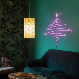 "Cedar Christmas Tree The Neon Studio Large: W 112cm * H 115cm / 44"" 45"" Purple Clear Acrylic - Shape of Design"