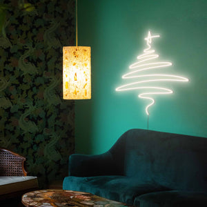 "Cedar Christmas Tree The Neon Studio Large: W 112cm * H 115cm / 44"" 45"" Warm White Clear Acrylic - Shape of Design"