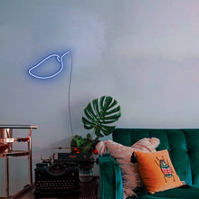 "Load image into Gallery viewer, Mango The Neon Studio Large: W 85cm * H 55cm / 33"" 22"" Dark Blue Clear Acrylic - Shape of Design"