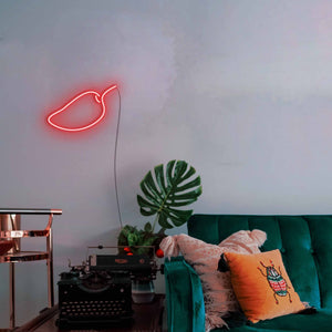 "Mango The Neon Studio Large: W 85cm * H 55cm / 33"" 22"" Red Clear Acrylic - Shape of Design"