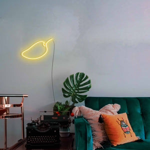 "Mango The Neon Studio Large: W 85cm * H 55cm / 33"" 22"" Yellow Clear Acrylic - Shape of Design"