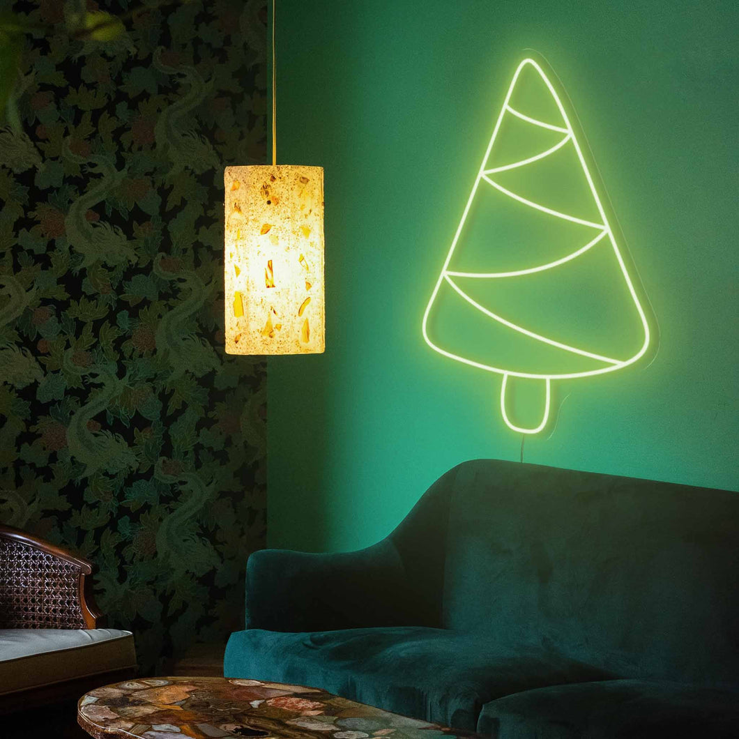 "Spruce Christmas Tree The Neon Studio X-Small: W 29cm * H 45cm / 11"" 18"" Green Clear Acrylic - Shape of Design"