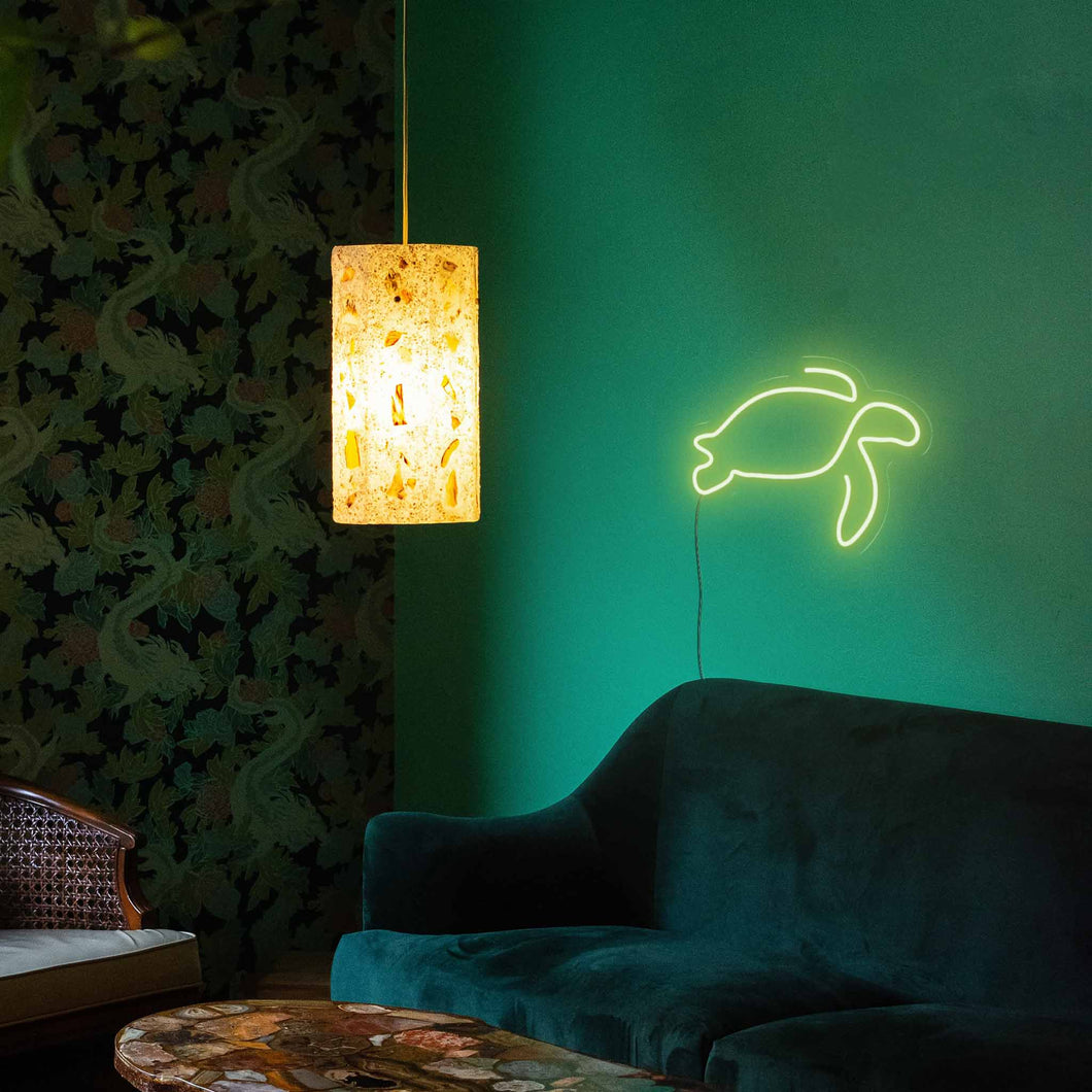 "Turtle The Neon Studio Large: W 85cm * H 60cm / 33"" 24"" Green Clear Acrylic - Shape of Design"