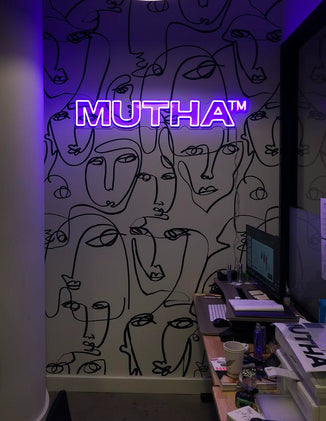 MUTHA Office Office Reception Receiving Area Business Logo Custom LED Neon Sign