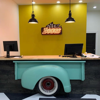 Boggs Office Office Reception Receiving Area Business Logo Custom LED Neon Sign