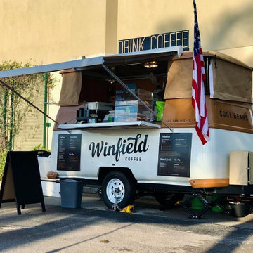 Winfield Street Coffee Truck Custom LED Neon Sign Business Sign