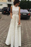 Ivory Charming Long Cheap Evening Dress Custom Made Formal Women Dress Prom Dresses