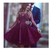 Wine Red Prom Dresses Beading Prom Gowns Cute Party Dress Short Prom Dress