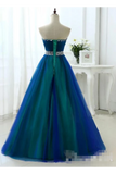 SweetHeart Neckline Rhinestones Sash Prom Dresses (Uchangeable Lining STKPZ1CDD59