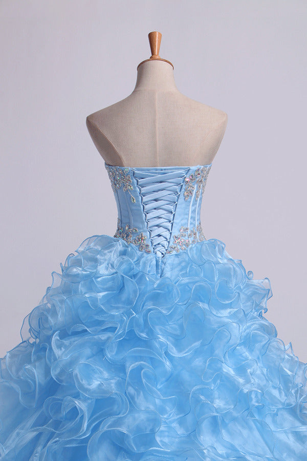 2020 Sweetheart Quinceanera Dresses Ball Gown Organza P7XN71MY